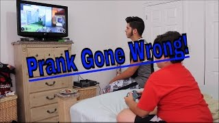 Turning off the TV Xbox Prank! (PRANK GONE WRONG)