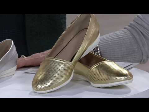 H by Halston Perforated Leather Slip-On Shoes - Leah on QVC