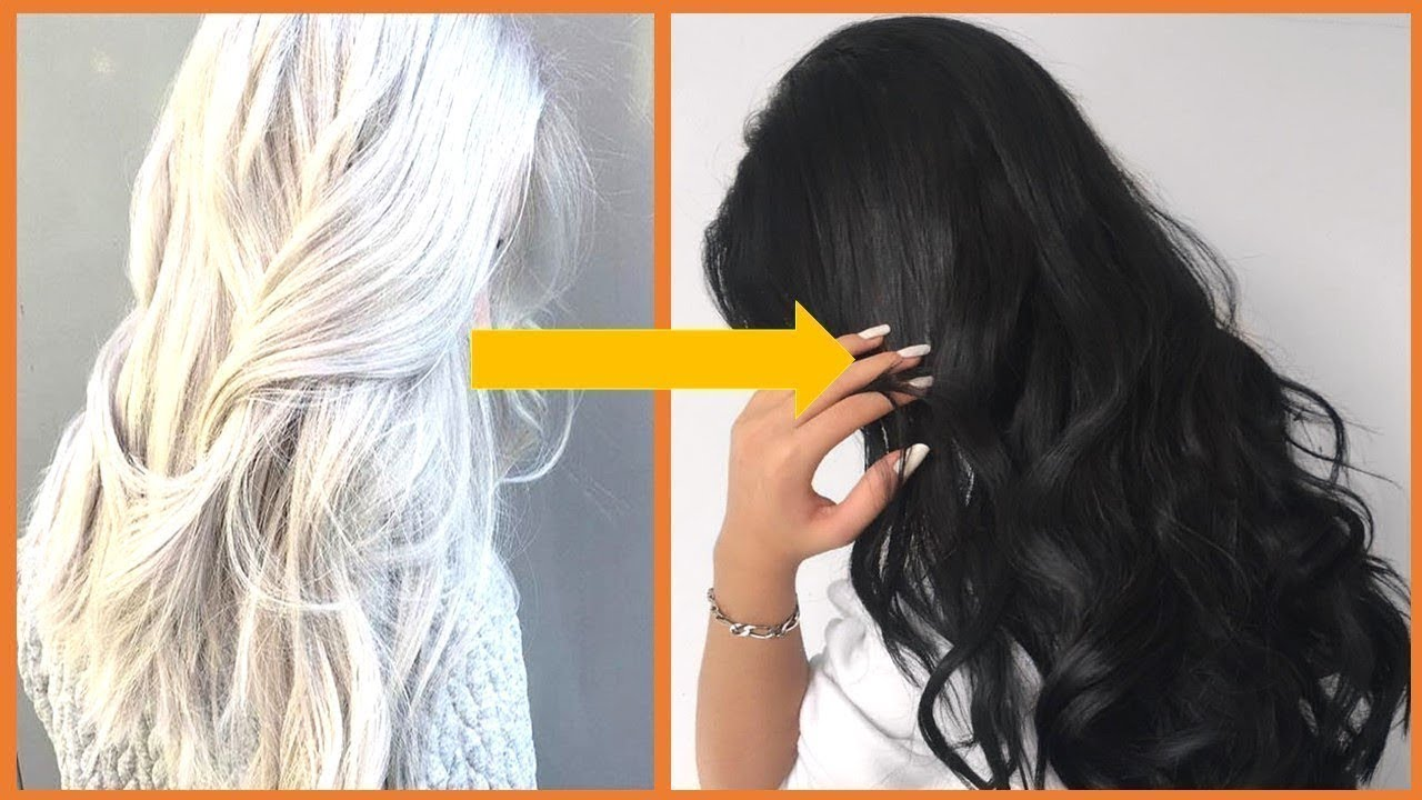 How to dye your hair white naturally