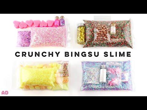 Crunchiest ASMR Bingsu Bead Slimes!! Testing Newest Satisfying Slime Trend