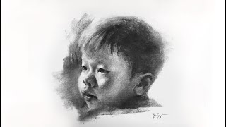 Zimou Tan | Art | How to draw a child portrait demo.