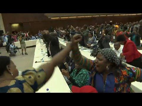 Celebrations as Zimbabwe's President Robert Mugabe is sacked