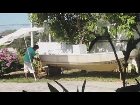 Aqua One 2 ... 3 feat. Noo -  a fiber boat builder in Phuket