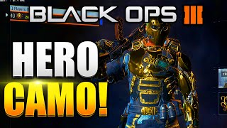 """Black Ops 3 - All Specialist """"HERO"""" Armour GAMEPLAY! GOLD HERO CAMO - (BO3 GOLD CAMO)"""
