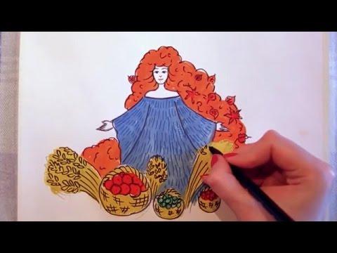 Картинки на тему осень срисовать