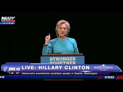 FULL SPEECH: Hillary Clinton Speaks in Seattle at Event Featuring Rapper Macklemore - FNN