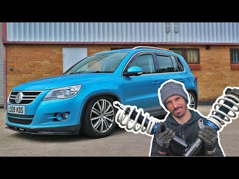 FITTING RACELAND COILOVERS TO A VW TIGUAN * SLAMMED ! *