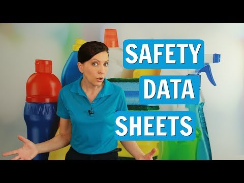 Safety Data Sheets (SDS) For House Cleaning Supplies