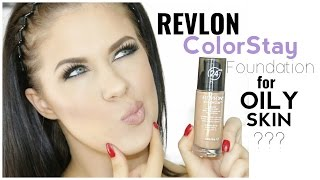 REVLON COLORSTAY FOUNDATION FOR OILY SKIN FIRST IMPRESSION amp REVIEW