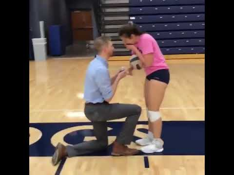 JROD - Guy Runs Into Then Proposes to Volley Ball Player Girlfriend