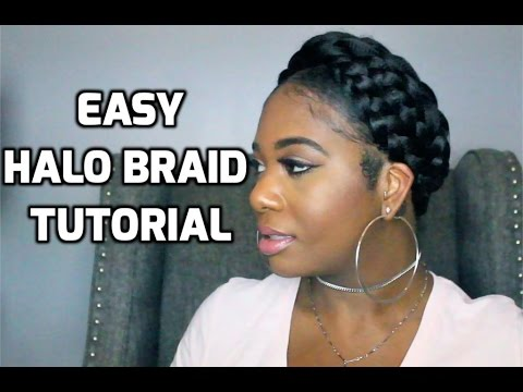 Easy Halo Braid Tutorial Using Braiding Hair