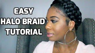 Easy Halo Braid Tutorial using Braiding Hair | PocketsandBows