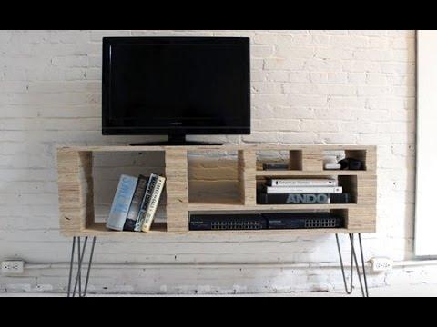Centro de entretenimiento pallets youtube - Como hacer un mueble para tv ...