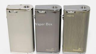 Aspire Pegasus(ペガサス) 温度管理機能付きBOX MOD 電子タバコ(Aspire Pegasusの紹介動画です。購入はコチラhttp://www.thevaperbox.com/shopdetail/000000000097/ ブラックをメインに撮影しましたが再生して3分46秒後から ..., 2015-09-10T17:30:35.000Z)
