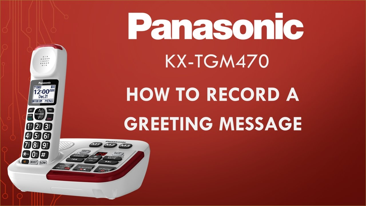 Panasonic kx tgm470 telephone how to record a greeting message panasonic kx tgm470 telephone how to record a greeting message kristyandbryce Image collections