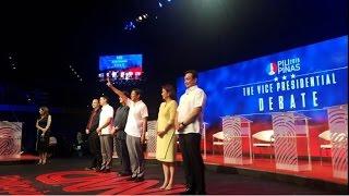 complete pilipinas debates 2016 vice presidential