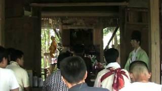 木幡山学頭愛宕神社の三匹獅子舞 三 2009.8.2