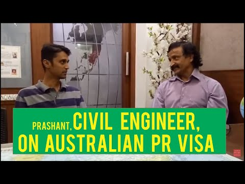 Prashant, Civil engineer, Our latest Australian PR Visa got client with Manoj Palwe