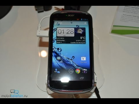 Acer Liquid E1: демонстрация на MWC 2013 (hands-on)
