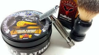 Weekly Shave Video w/Soapy Bathman Cigar Lounge & The Phoenix Double OC