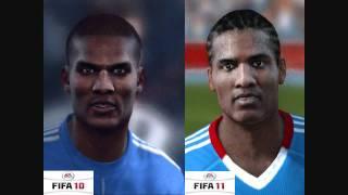 FIFA 10 vs FIFA 11 Face Comparison (Chelsea FC)