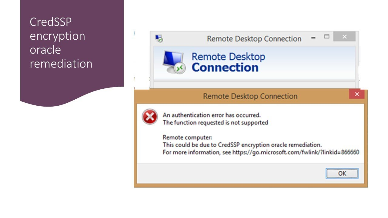 remote desktop connection the function requested is not supported