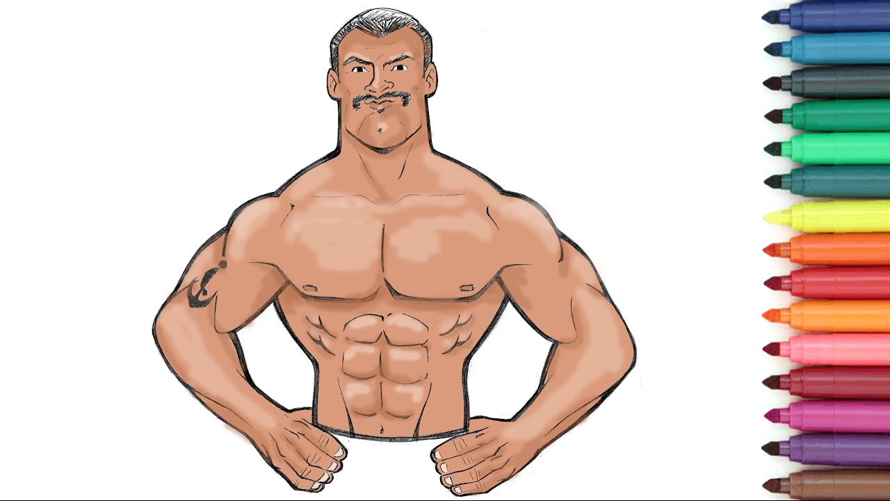 Athlete Strong Man Coloring Page For Kids