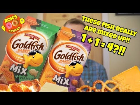 NEW GOLDFISH MIX!! XPLOSIVE PIZZA PARMESAN, XTREME CHEDDAR  PRETZEL! TASTE AND REVIEW!!