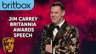 Jim Carrey's Hilarious Acceptance Speech Entrance   Britannia Awards