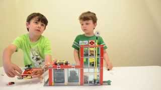 Lego City 60004 Fire Station - Box Opening, Time Lapse Build, And Review