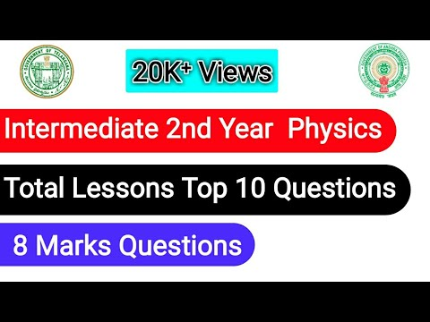 Physics/intermediate 2nd Year Top 10 Important Essay Questions For A.P