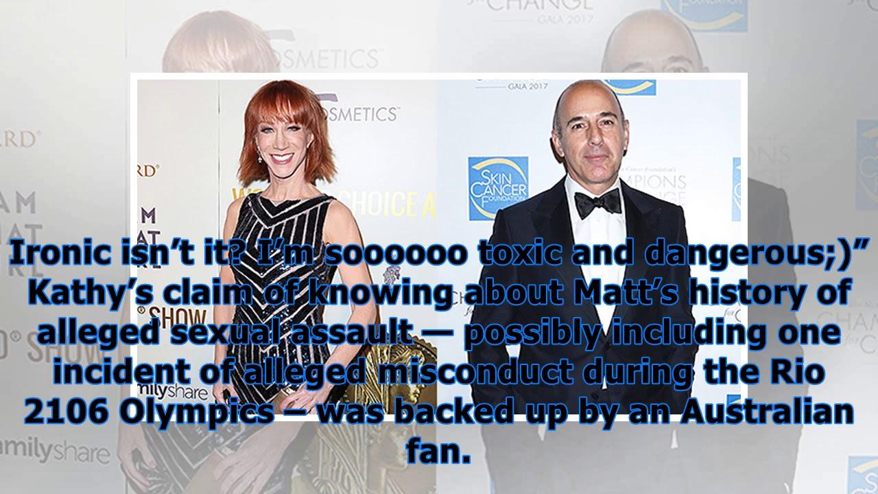 Kathy griffin claims she\u0027s known about matt lauer\u0027s alleged ...