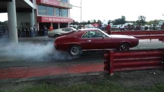2012 Pure Stock Drags 68 AMX & 71 Mustang burnout
