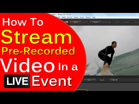 How To Play a Pre-Recorded Video In A YouTube Live Event in Good Quality (Not Hangout)