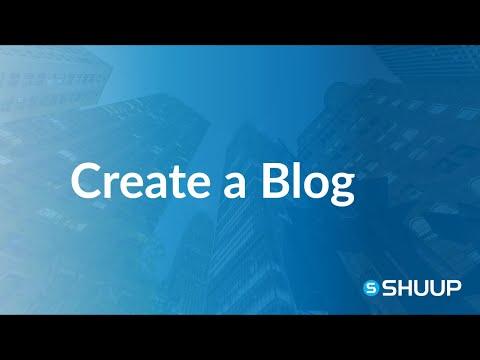 Create a Blog on Shuup