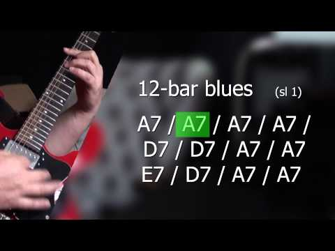 12 bar blues in A7 backing track S1