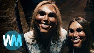 Топ 10 Моментов в Фильмах Ужасов Когда Снимались Маски