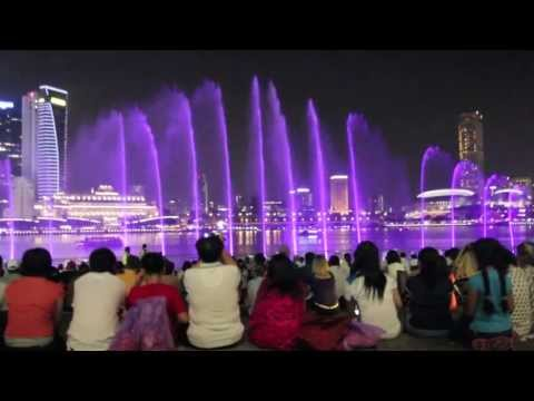 Wonder Full Light and Water Show Marina Bay Sands Singapore HD