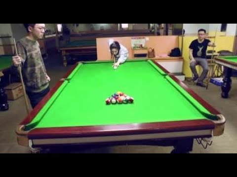 Chinese woman pulls off incredible trick shot