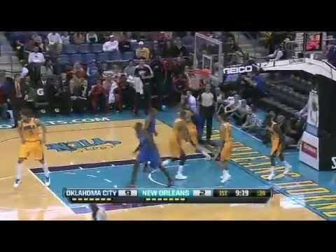 NBA November 16 2012: New Orleans Hornets vs Oklahoma City Thunder Highlights