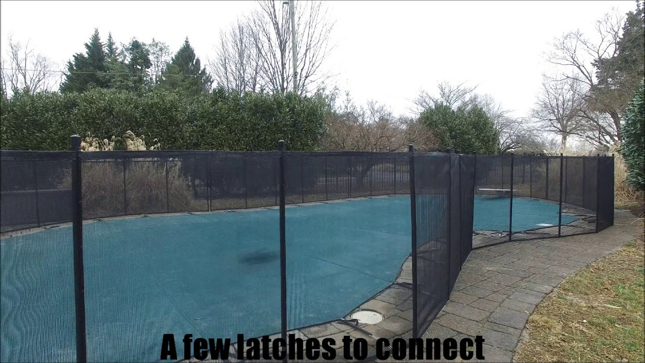 Life Saver Safety Pool Fence Install Youtube