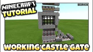 Minecraft Castle Gate Portcullis Tutorial Mcpe Bedrock