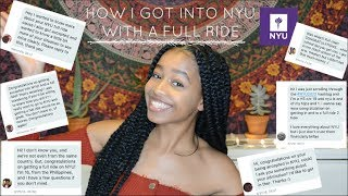 HOW I GOT INTO NYU WITH A FULL RIDE | Q&A/Advice
