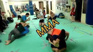 Борцовская тренировка. Кикбоксинг и Смешанные единоборства ММА.