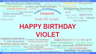 Violet   Languages Idiomas - Happy Birthday