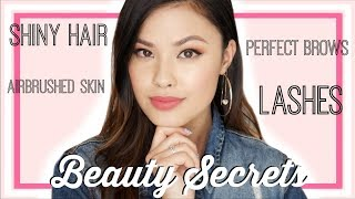My Updated Beauty Secrets | Shiny Hair, Perfect Brows, and Airbrushed Skin!