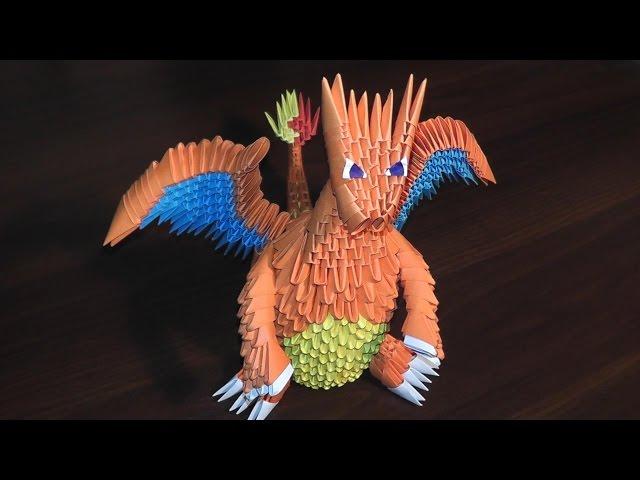 Модульное оригами покемон