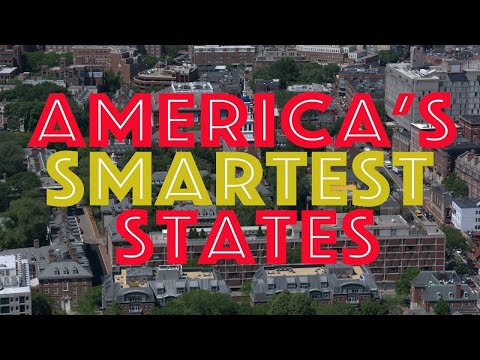 The 10 SMARTEST STATES In AMERICA