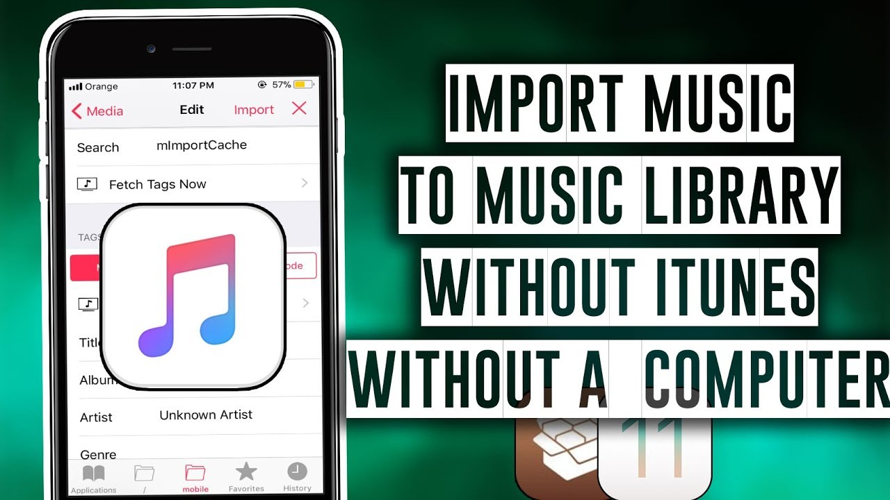 How to import Music to your Music Library without iTunes or a Computer -  iOS 11 / iOS 12 - 12 1 2
