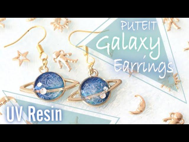 【UV Resin】Eng/Jap レジンプチギャラクシーイヤリングPuteit Galaxy Earring